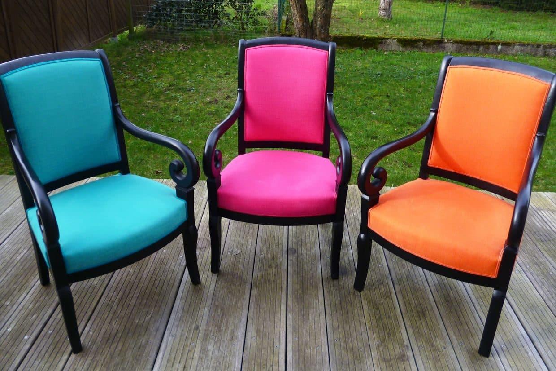 Rénovation de fauteuils par un artisan tapissier de France